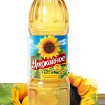 Урожайное. Рафинированное-дезодорированное, 1 л., 0,87 л., Якутск