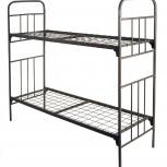 Кровати металлические трехъярусные, кровати железные для бытовок, Якутск